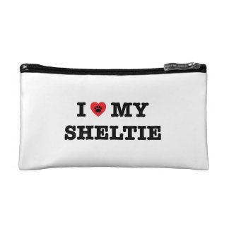 I Heart My Sheltie Cosmetic Bag