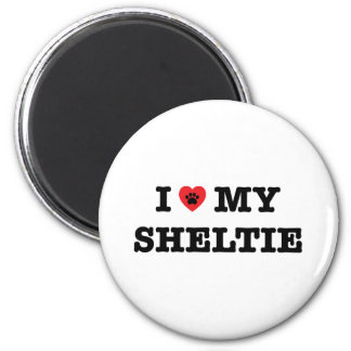 I Heart My Sheltie Fridge Magnet