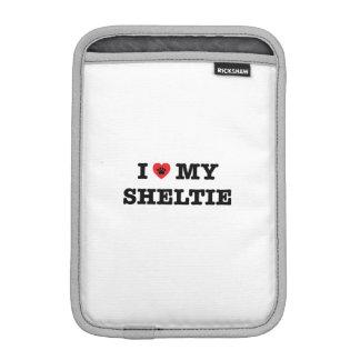 I Heart My Sheltie iPad Sleeve