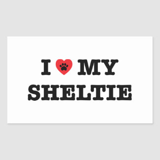 I Heart My Sheltie Sticker