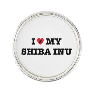 I Heart My Shiba Inu Lapel Pin