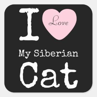 I Heart My Siberian Cat Sticker