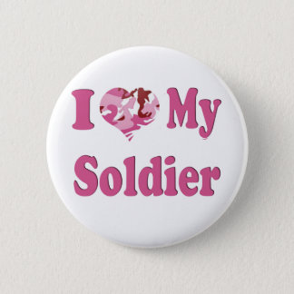 I Heart My Soldier 6 Cm Round Badge