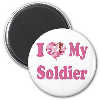 I Heart My Soldier 6 Cm Round Magnet