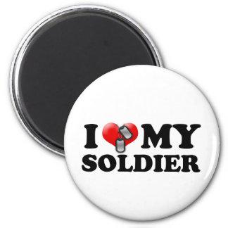I (Heart) My Soldier 6 Cm Round Magnet