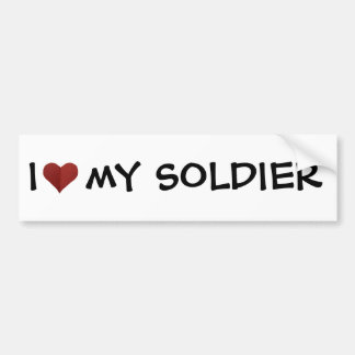 I Heart My Soldier Bumper Sticker