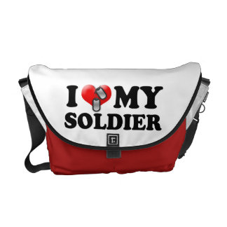 I (Heart) My Soldier Courier Bag