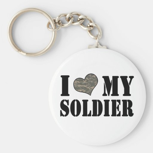 I Heart My Soldier Key Chain