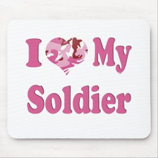 I Heart My Soldier Mouse Mat