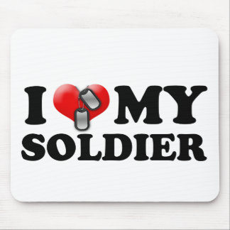 I (Heart) My Soldier Mouse Pad