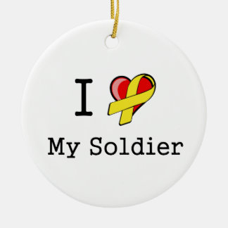 I Heart My Soldier Ornament