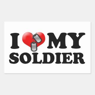 I heart my Soldier Sticker
