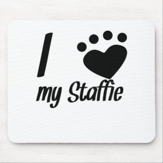 I Heart My Staffie Mousepad