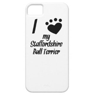 I Heart My Staffordshire Bull Terrier iPhone 5/5S Cases