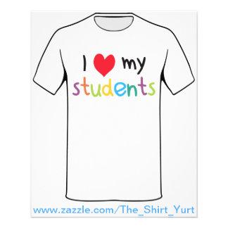 I Heart My Students Teacher Love 11.5 Cm X 14 Cm Flyer