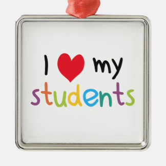 I Heart My Students Teacher Love Christmas Ornament
