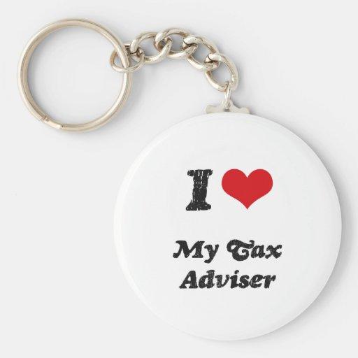 I heart My Tax Adviser Keychains