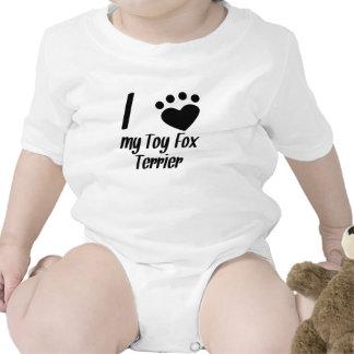I Heart My Toy Fox Terrier Baby Bodysuits