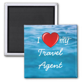 I Heart My Travel Agent magnet