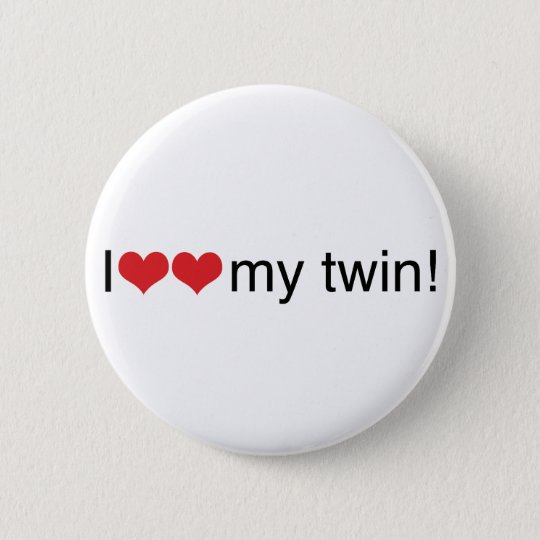 I Heart My Twin 6 Cm Round Badge
