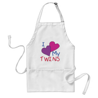 I Heart My Twins Standard Apron