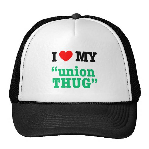 "I Heart My ""Union Thug"" Mesh Hat"