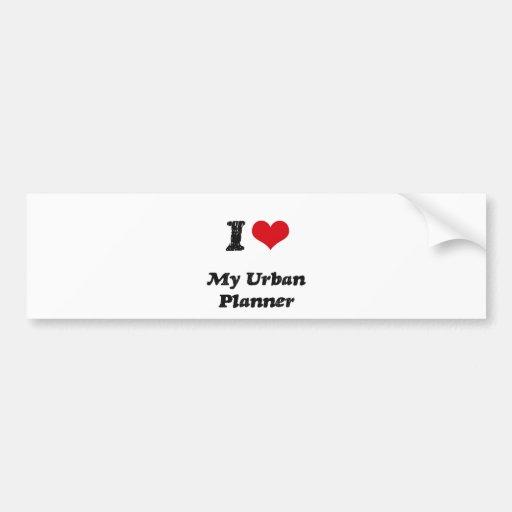 I heart My Urban Planner Bumper Stickers