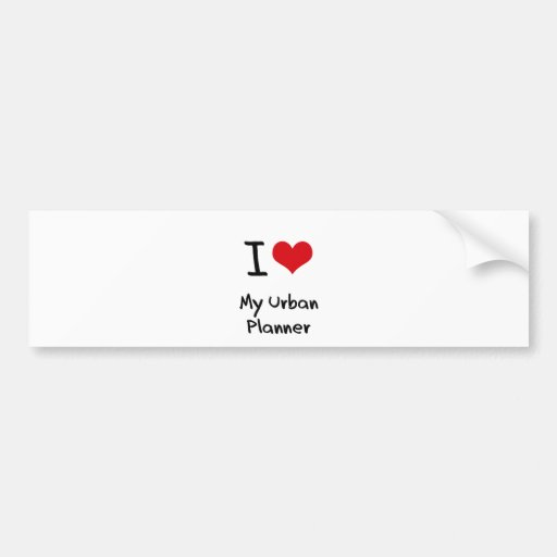 I heart My Urban Planner Bumper Sticker