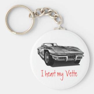 I heart my 'Vette Key Ring