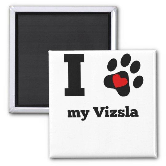 I Heart My Vizsla Square Magnet