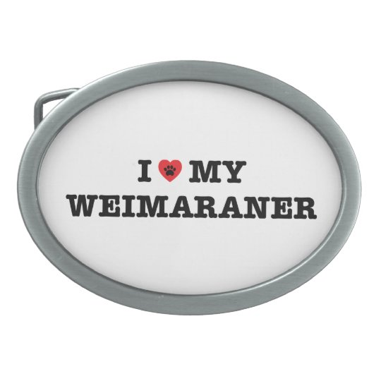 I Heart My Weimaraner Belt Buckle