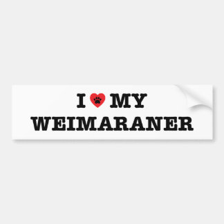 I Heart My Weimaraner Bumper Sticker