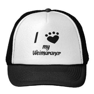 I Heart My Weimaraner Mesh Hats