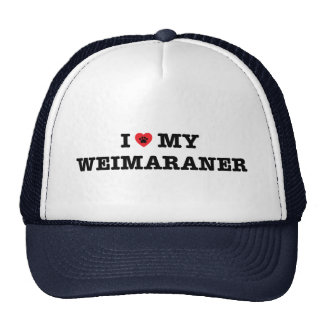 I Heart My Weimaraner Trucker Hat