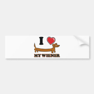 I-HEART-MY-WEINER BUMPER STICKER