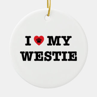 I Heart My Westie Ornament