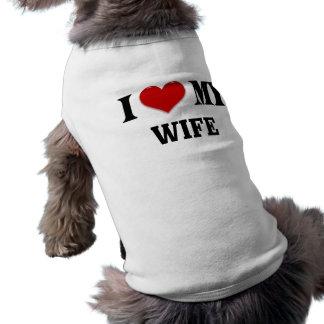 I heart my Wife Pet Tee