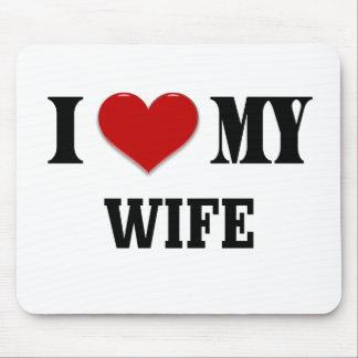 I heart my Wife Mousepads
