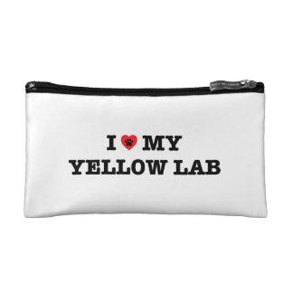 I Heart My Yellow Lab Cosmetic Bag