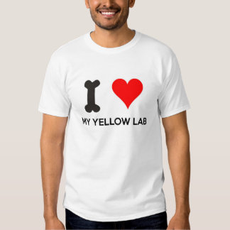 I Heart My Yellow Lab Tee Shirt