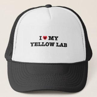 I Heart My Yellow Lab Trucker Hat