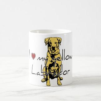 "I ""heart"" my yellow Labrador with graphic Basic White Mug"