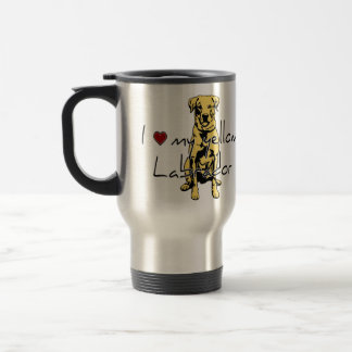 "I ""heart"" my yellow Labrador with graphic Mug"