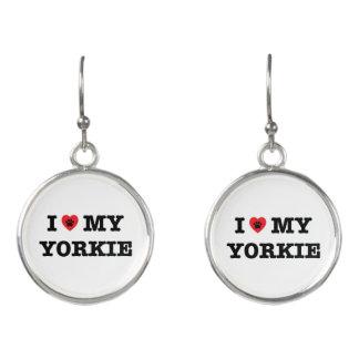 I Heart My Yorkie Drop Earrings