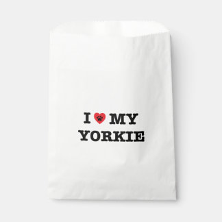 I Heart My Yorkie Favor Bag Favour Bags