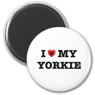 I Heart My Yorkie Fridge Magnet