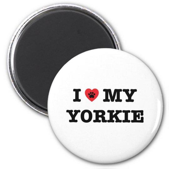 I Heart My Yorkie Fridge Magnet