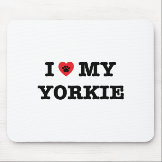 I Heart My Yorkie Mouse Pad