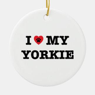 I Heart My Yorkie Ornament