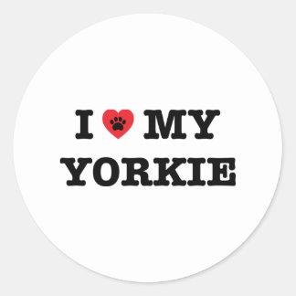 I Heart My Yorkie Sticker